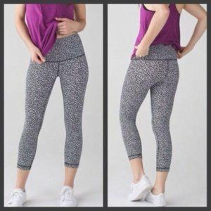 Lululemon Wunder Under Crop Leggings Sz 8
